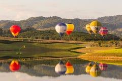 CHIANGRAI, THAILAND - NOV 29 2015 : Hot air balloon farm festiva Stock Photos