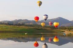CHIANGRAI, THAILAND - NOV 29 2015 : Hot air balloon farm festiva Royalty Free Stock Photos