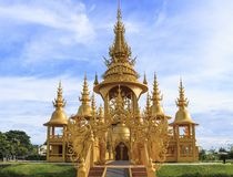 Chiangrai, Thailand - September 01, 2018: Wat Rong Khun White Temple is one of most favorite landmarks tourists visit in Thailan stock images