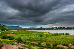 Chiangsaen, Chiangrai in Thailand. View of The Mae khong river in Chiangsaen, Chiangrai in Thailand royalty free stock photos