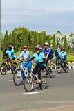 Chianh mai,泰国- 2015年8月16日:准备的骑自行车者 库存图片