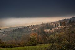 Chianni, Пиза, Тоскана - Италия стоковые фотографии rf