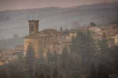 Chianni, Pisa, Toscanië - Italië royalty-vrije stock foto
