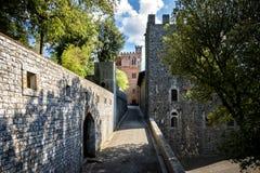 Chianti葡萄园在托斯卡纳,意大利 库存照片