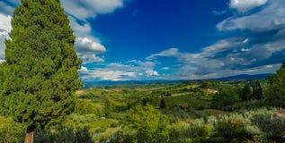 Chianti από το SAN Gimignano στοκ φωτογραφία με δικαίωμα ελεύθερης χρήσης