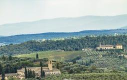 Chianti στην Τοσκάνη, Ιταλία στοκ φωτογραφία με δικαίωμα ελεύθερης χρήσης