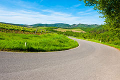Chianti. Winding Paved Road in the Chianti Region, Italy stock image