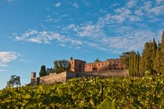 Chianti de château de Brolio photo stock