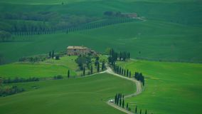 Chianti hills in Tuscany. Chianti hills with cypress trees, in Tuscany. Wind and clouds draw clear shadows on the ground stock video footage