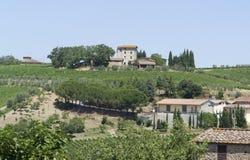 Chianti i Tuscany royaltyfri fotografi