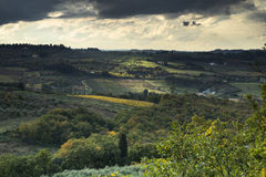 Chianti. Photographed scenery along the road of Chianti stock images