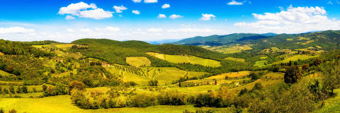 Chianti Rolling Hillside Panorama royalty free stock photography