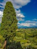 Chianti from San Gimignano. View at Chianti countryside from San Gimignano, Italy stock image