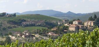 Chianti in Toscana fotografie stock libere da diritti