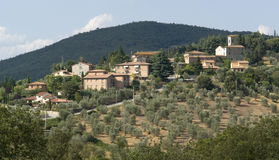 Chianti in Tuscany. San Regolo in Gaiole near Castle of Brolio in the Chianti region of Tuscany in Central Italy royalty free stock images