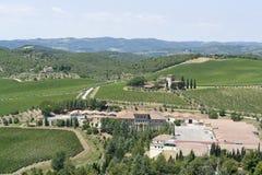 Chianti in Tuscany Royalty Free Stock Image
