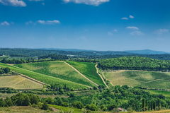 Chianti Valley,Tuscany. View on Chianti Valley,Tuscany, Italy royalty free stock images