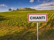 Chianti wina region Tuscany, Włochy Fotografia Royalty Free