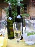 chianti winetasting Sommerzeit Stockbild