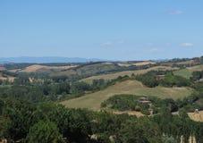Chiantishire hills landscape Royalty Free Stock Image