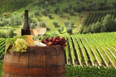 chiantituscany vingård royaltyfri bild