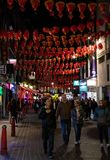 Chiantown Lanterns at night royalty free stock images