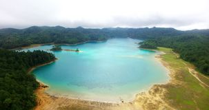 Stunning drone view of Montebello lagoon. stock video footage