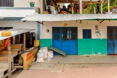 Achitecture of the Chiapas state, Mexico. CHIAPAS, MEXICO - NOV 2, 2016: House in One of the maya villages in Chiapas state of Mexico. Here live the real people Royalty Free Stock Photography