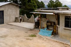 Achitecture of the Chiapas state, Mexico. CHIAPAS, MEXICO - NOV 2, 2016: One of the maya villages in Chiapas state of Mexico. Here live the real people of the Royalty Free Stock Photography