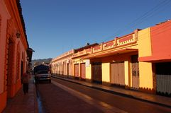 Chiapas Street. Street in a city of Chiapas, Mexico royalty free stock photography