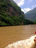 Chiapas Sumidero jar, krajobraz obrazy royalty free