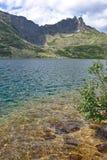 Chiara acqua del turchese del lago della montagna Fotografia Stock Libera da Diritti