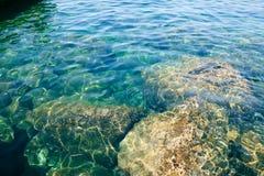 Chiara acqua nel mare Fotografia Stock Libera da Diritti