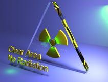 Chiara area 3D di radiazione Immagine Stock Libera da Diritti
