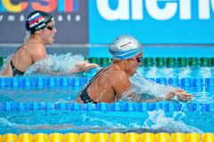 Chiara Boggiato  ( Italy). BUDAPEST - AUGUST 13: Chiara Boggiato  ( Italy) in the 2010  LEN Swimming Championships  on August 13, 2010 in Budapest Stock Image