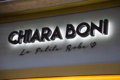 Chiara Boni sklepu logo Zdjęcia Royalty Free