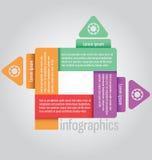 Chiara forma del quadrato del modello Può essere usato per il infographics, websi illustrazione di stock