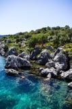 Chiari 2 mediterranei blu fotografie stock libere da diritti