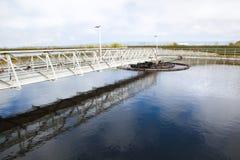 Chiarificatore dell'impianto di trattamento delle acque reflue Immagine Stock