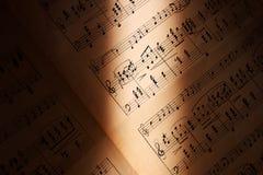 Chiarisca la musica Fotografie Stock Libere da Diritti