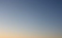 Chiaro cielo di sera senza nuvole Fotografie Stock Libere da Diritti