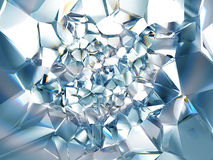 Chiaro fondo di cristallo blu-chiaro astratto Immagine Stock