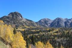 Chiaro giorno in montagne di Colorado fotografia stock libera da diritti