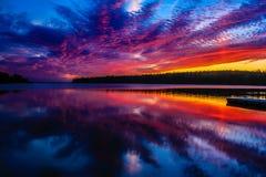 Chiaro lago, parco nazionale di guida della montagna, Manitoba, Canada fotografia stock