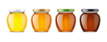 Chiaro modello di Honey Jar illustrazione di stock