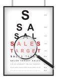 Chiaro obiettivo di vendite nel concetto della prova di vista Illustrazione di Stock