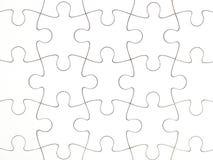 Chiaro puzzle bianco Immagine Stock