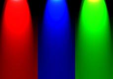 Chiarore astratto di colore di RGB del riflettore del fondo con lo spazio in bianco per tex Fotografie Stock