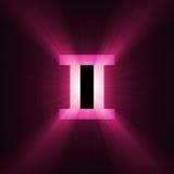 Chiarore dei Gemini di simbolo di astrologia illustrazione di stock