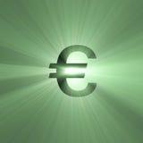 Chiarore dei soldi del segno di valuta euro Fotografia Stock Libera da Diritti